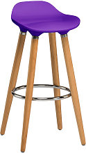 Adoni Bar Stool In Purple ABS With Natural Beech