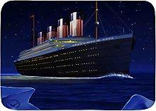 ADONINELP Bath Mat Rug,RMS Titanic,Plush Bathroom
