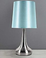 Adorable Rimni Touch Lamp with Blue Faux Silk MND