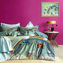 Adorise Bedding Duvet Cover Set Rainbow Sunny Sky