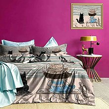 Adorise Bedding Set Baby Girl with a Cat Ultra