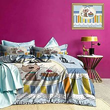 Adorise Bedding Sets Baby Cat with Cake Boys