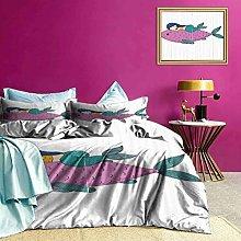 Adorise Bedspreads Coverlet Baby Fish Kids Nursery
