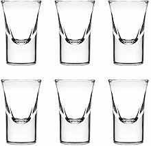 Adouiry 1-Oz Shot Glass Set of 6,Heavy Base Clear