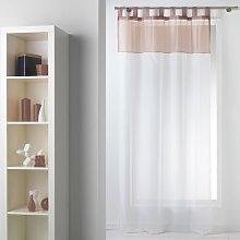 Adria Tab Top Sheer Single Curtain Belfry Bathroom