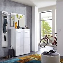 Adrian Hallway Furniture Set In White With High