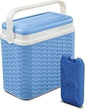 ADRIATIC 10 Litre Cooler Rattan Design Box Camping