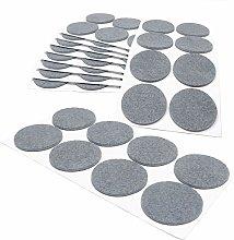 Adsamm® | 80 x self-stick felt pads | Ø