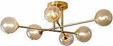 ADSIKOOJF 6-lights Chandelier Rustic Vintage