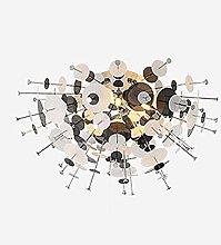ADSIKOOJF Modern Black Chandelier 12-lights