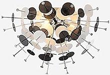 ADSIKOOJF Modern Black Chandelier 6-lights