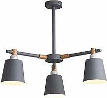 ADSIKOOJF Nordic Wooden LED Chandelier 8-lights