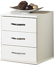 Adtrad DUO White - 3 Drawer Chest Bedside Cabinet