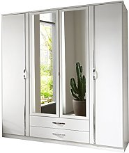 Adtrad Duo White Four Door Wardrobe - Centre Doors
