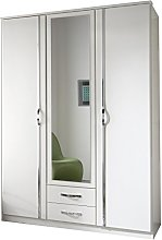 Adtrad Duo White - Three Door Wardrobe - Centre