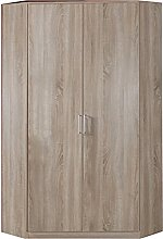 Adtrad Oak Effect Corner Wardrobe Unit - 2 Doors -