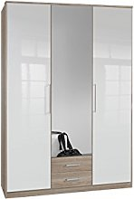 Adtrad Three Door Wardrobe - 1 Mirror Door - Two