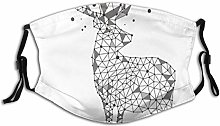 Adult Dust mask Face Cover,Polygonal Look Wild