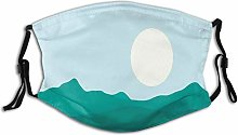 Adult Dust mask Face Cover,Silhouette Of African