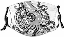 Adult Dust mask Face Cover,Squid Fish With Fins