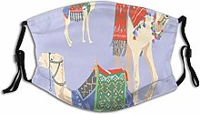 Adult Dust mask Face Cover,Sweet Cartoon Of Camels