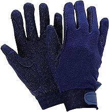 Adults Track Riding Gloves (Medium) (Navy) - Dublin