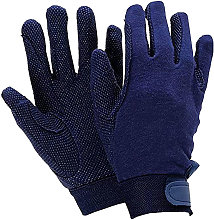 Adults Track Riding Gloves (Small) (Navy) - Dublin