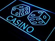 ADV PRO i347-b Casino Dice Lucky Game Bar Pub Neon
