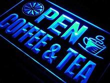 ADV PRO j673-b OPEN Coffee Tea Cafe Juice Neon