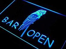 ADV PRO m046-b Bar Open Parrot Neon Light Sign