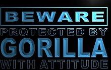 ADV PRO m506-b Beware Gorilla Neon Light Sign