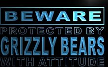 ADV PRO m508-b Beware Grizzly Bears Neon Light Sign