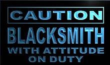 ADV PRO m546-b Caution Blacksmith Neon Light Sign