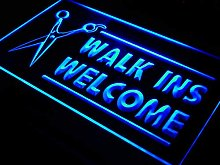 ADV PRO OPEN WALK INS WELCOME Hair Cut LED Sign