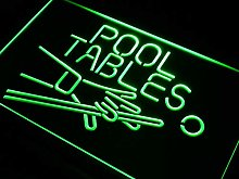 ADV PRO Pool Tables Room LED Neon Sign Green 400 x
