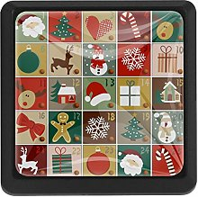 Advent Calendar Xmas Square Cabinet Knobs Cabinets