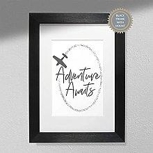 Adventure Awaits - Typography Print   Minimalist