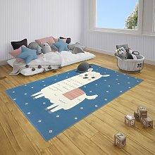 Adventures Hanse Home 104533 Monty Llama Sky Blue