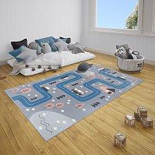 Adventures Hanse Home 104537 Street Grey Blue