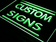 ADVPRO Custom Signs LED Signs/Edge Lit Signs/Your