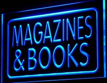 ADVPRO i832-b Magazines & Books Shop Display Neon