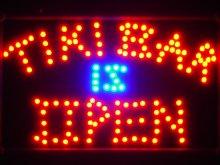 ADVPRO led042-r Tiki Bar is OPEN LED Neon Light
