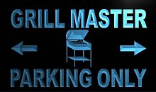 ADVPRO m347-b Grill Master Parking Only Neon Light
