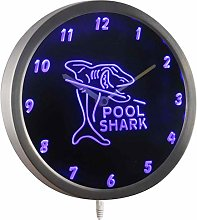 ADVPRO nc0960-b Pool Shark Man Cave Decor Neon