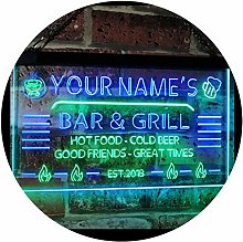 ADVPRO Personalized Your Name Custom Bar & Grill
