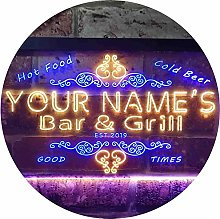 ADVPRO Personalized Your Name Est Year Theme Bar &