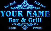 ADVPRO u-tm-b Name Personalized Custom Family Bar