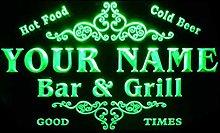 ADVPRO u-tm-g Name Personalized Custom Family Bar