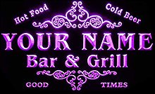 ADVPRO u-tm-p Name Personalized Custom Family Bar