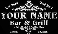 ADVPRO u-tm-w Name Personalized Custom Family Bar
